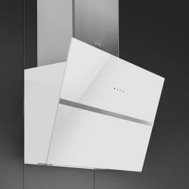 Smeg KCV60BE2 Linea 60cm Angled Wall Hood White Glass