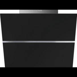 Smeg KCV60NE2 Linea 60cm Angled Wall Hood Black Glass