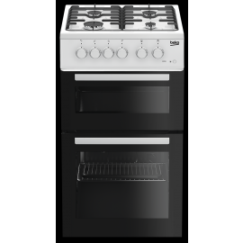 Beko KDG581W50cm Twin Cavity Cooker Gas Cooker In White