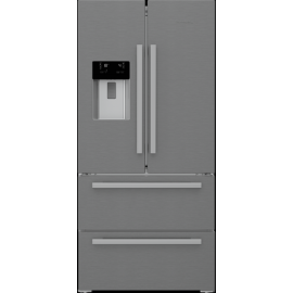 KFD4953XD Blomberg American Style Fridge Freezer - Stainless Steel - Frost Free