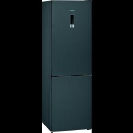 siemens iQ300 Free-standing fridge-freezer with freezer at bottom 186 x 60 cm Black stainless steel KG36NXXDC