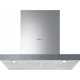Smeg KS605SXE2 Linea 60cm Stainless Steel Hood With Silver Glass Control Panel