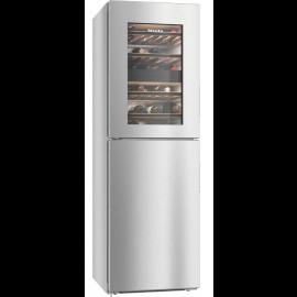 Miele KWNS28462E Freestanding Fridge Freezer, Silver