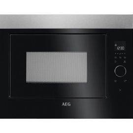 AEG Built In Microwave 26 Litres Black / Stainless Steel MBE2658SEM