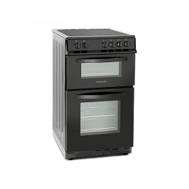 Montpellier MDC500FK Black 50cm Double Oven Electric Cooker 2 Yrs Wrty