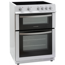 Montpellier MDC600FW 60 cm Electric Ceramic Cooker - White