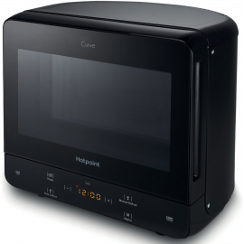 HOTPOINT CURVE MICROWAVE - BLACK MWH1331B DISPLAY MODEL