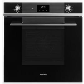 Smeg Linea SF6100TVN1 Built-In Single Electric Oven, Black Glass