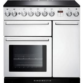 Rangemaster Nexus 90cm Inducion Range Cooker White NEX90EIWH/C