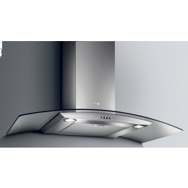 TURBOAIR Pantheon Chimney Cooker Hood 90cm Stainless Steel / Glass Wall Mounted