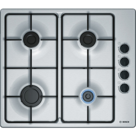 Bosch PBP6B5S80 Burner Gas Hob With Side Controls In Stainless Steel
