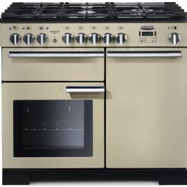 Rangemaster Professional Deluxe 100 Dual Fuel Cream And Chrome PDL100DFFCR/C