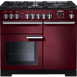 Rangemaster Professional Deluxe 100 Dual Fuel Cranberry And Chrome PDL100DFFCY/C