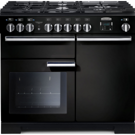 Rangemaster Professional Deluxe 100 Dual Fuel Black And Chrome PDL100DFFGB/C