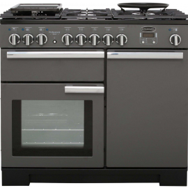 Rangemaster Professional Deluxe 100 Dual Fuel Slate And Chrome PDL100DFFSL/C