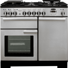 Rangemaster Professional Deluxe 100 Dual Fuel Stainless Steel And Chrome PDL100DFFSS/C