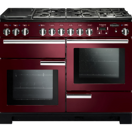 Rangemaster Professional Deluxe 110 Dual Fuel Cranberry And Chrome PDL110DFFCY/C