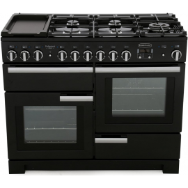 Rangemaster Professional Deluxe 110 Dual Fuel Black And Chrome PDL110DFFGB/C