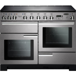 Rangemaster Professional Deluxe 110 Induction Stainless Steel And Chrome PDL110EISS/C