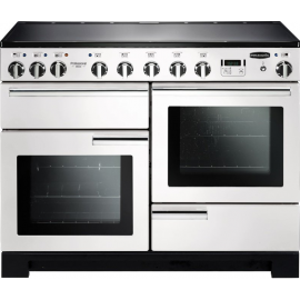 Rangemaster Professional Deluxe 110 Induction White And Chrome PDL110EIWH/C