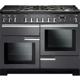 Rangemaster Professional Deluxe 110 Dual Fuel Slate And Chrome PDL110DFFSL/C