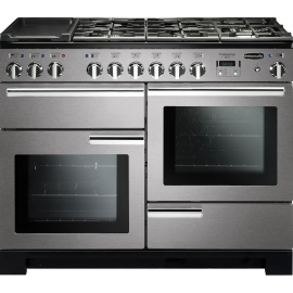 Rangemaster Professional Deluxe 110 Dual Fuel Stainless Steel And Chrome PDL110DFFSS/C