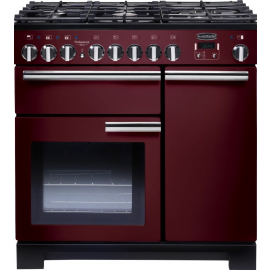 Rangemaster Professional Deluxe 90 Cranberry And Chrome PDL90DFFCY/C