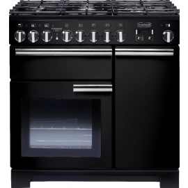 Rangemaster Professional Deluxe 90 Black And Chrome PDL90DFFGB/C
