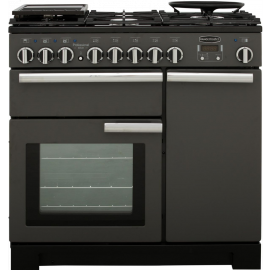 Rangemaster Professional Deluxe 90 Slate And Chrome PDL90DFFSL/C