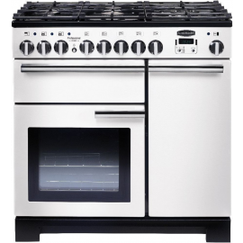 Rangemaster Professional Deluxe 90 White And Chrome PDL90DFFWH/C