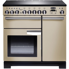 Rangemaster Professional Deluxe 90 Induction Cream And Chrome PDL90EICR/C