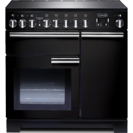 Rangemaster Professional Deluxe 90 Induction Black And Chrome PDL90EIGB/C