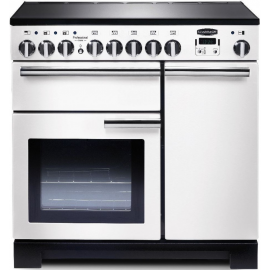 Rangemaster Professional Deluxe 90 Induction White And Chrome PDL90EIWH/C