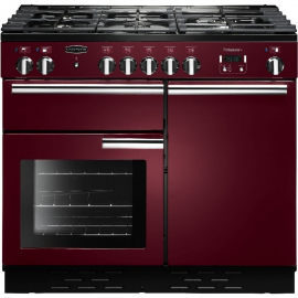 Rangemaster Professional Plus 100 Dual Fuel Cranberry And Chrome PROP100DFFCY/C
