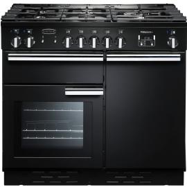 Rangemaster Professional Plus 100 Dual Fuel Black And Chrome PROP100DFFGB/C