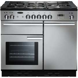 Rangemaster Professional Plus 100 Dual Fuel Stainless Steel And Chrome PROP100DFFSS/C