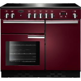 Rangemaster Professional Plus 100 Induction Cranberry And Chrome PROP100EICY/C