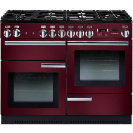 Rangemaster Professional Plus 110 Dual Fuel Cranberry And Chrome PROP110DFFCY/C