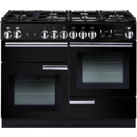 Rangemaster Professional Plus 110 Dual Fuel Black And Chrome PROP110DFFGB/C
