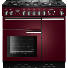 Rangemaster Professional Plus 90 Dual Fuel Cranberry And Chrome PROP90DFFCY/C