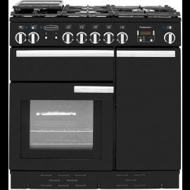 Rangemaster Professional Plus 90 Dual Fuel Black And Chrome PROP90DFFGB/C