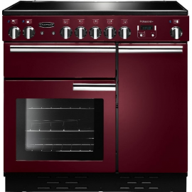 Rangemaster Professional Plus 90 Induction Cranberry And Chrome PROP90EICY/C