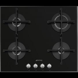 Smeg PV164N2 Linea 60cm Gas On Glass Hob Black