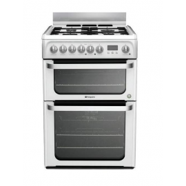 Hotpoint Ultima HUD61P 60cm Dual Fuel Cooker - White