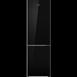 HiSense RB438N4GB3 Black Glass Frost Free Fridge Freezer