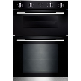 Rangemaster RMB9045BL/SS Double Built In Electric Oven