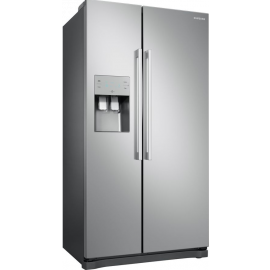 Samsung RS50N3513SA Frost Free American Fridge Freezer With Plumbed Ice & Water - Silver