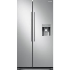 Samsung RS52N3313SA American Frost Free Fridge Freezer Non Plumbed Water Dispenser - Metal Graphite