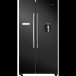 HISENSE RS741N4WB11 American Style Fridge Freezer - Black