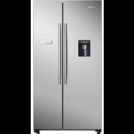 Hisense RS741N4WC11 American Style Fridge Freezer - Stainless Steel